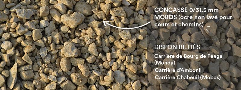 Matériaux Cheval Granulats concassé 0/31.5 Mobos pour travaux paysagers