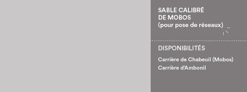 Matériaux Cheval Granulats sable calibré de Mobos pour assainissement