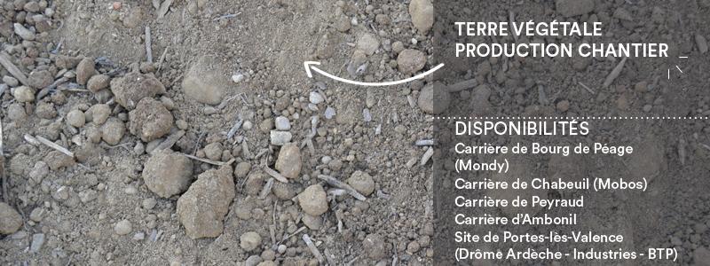 Matériaux Cheval Granulats terre végétale (production chantier) pour travaux paysagers