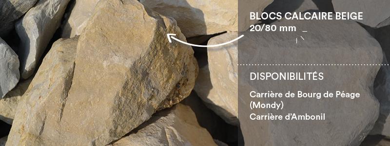 Matériaux Cheval granulats gravier concassé 20/80mm beige pour travaux paysagers