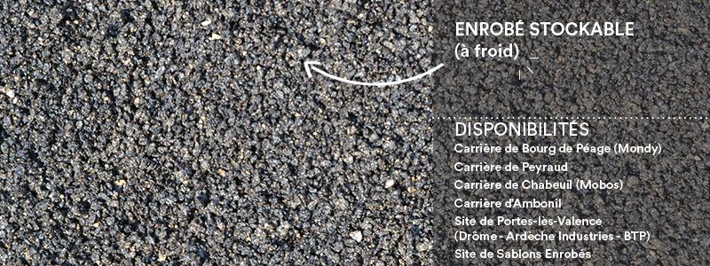 Matériaux Cheval Granulats enrobé stockable (à froid) pour voiries, chemins, cours