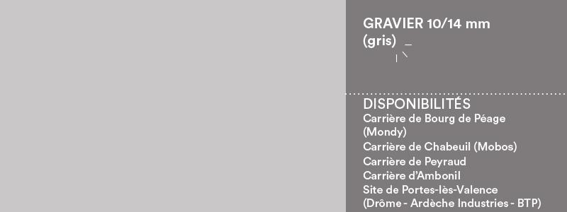 Matériaux Cheval Granulats gravier 10/14 mm gris pour voiries, chemins, cours