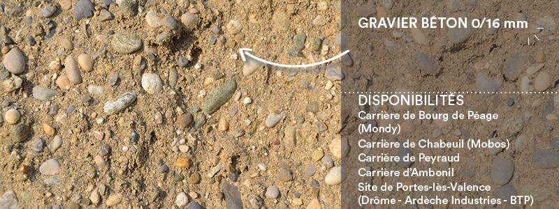 Matériaux Cheval Granulats gravier béton 0/16 mm pour béton/mortier