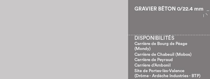 Matériaux Cheval Granulats gravier béton 0/22.4 mm pour béton/mortier