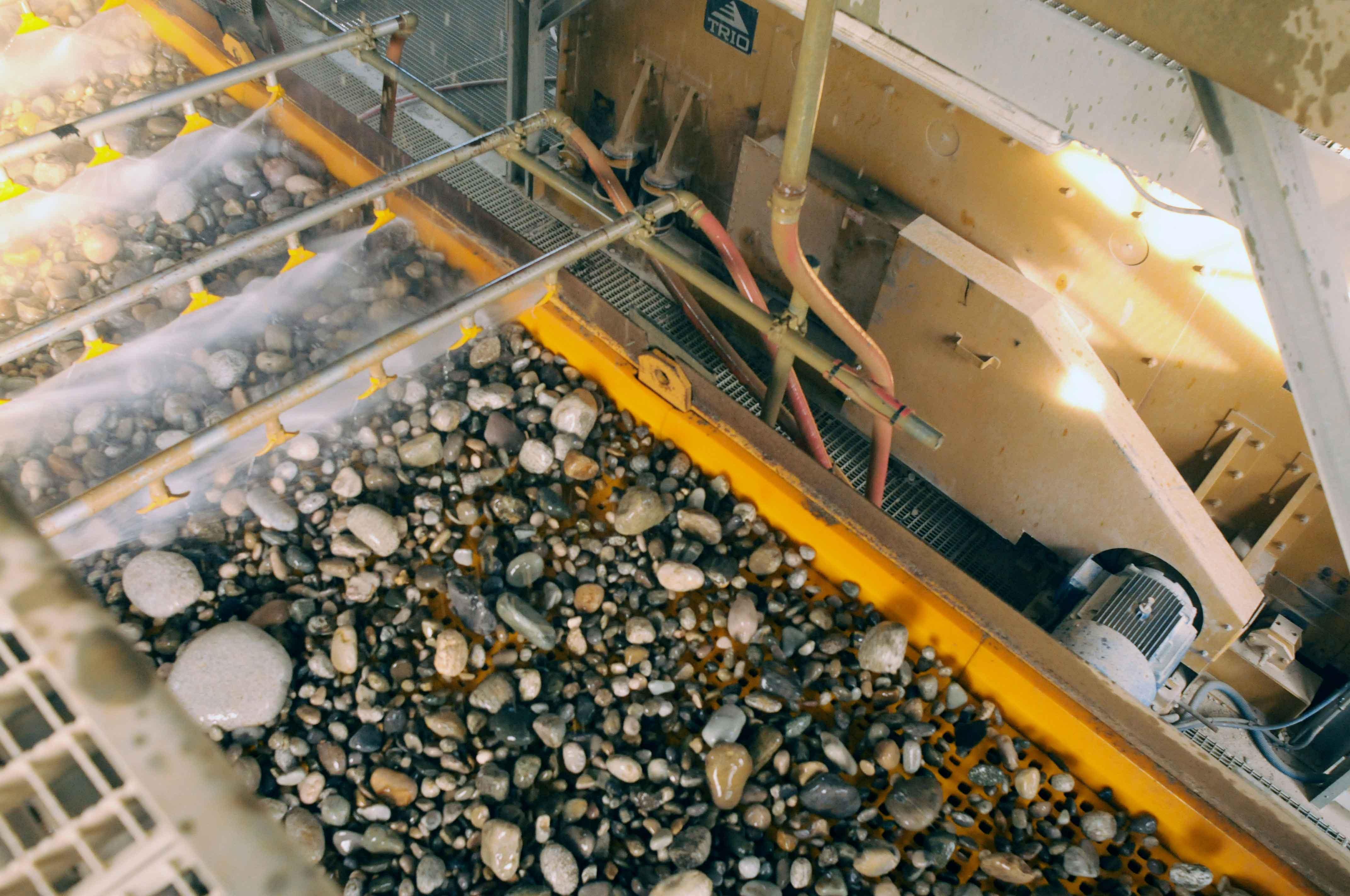 lavage des matériaux étape d'élaboration des granulats
