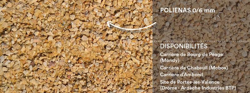 Matériaux Cheval Granulats polienas 0/6 mm pour voiries, chemins, cours