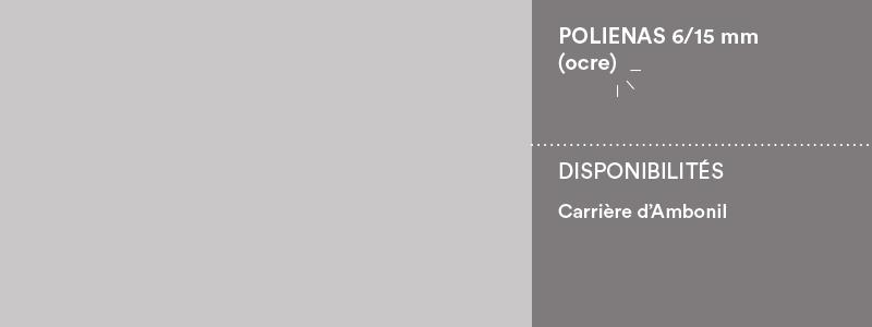 Matériaux Cheval Granulats polienas 6/15 ocre pour voiries, chemins et cours