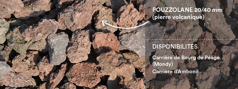 Matériaux Cheval Granulats pouzzolane 20/40 (pierre volcanique) pour travaux paysagers