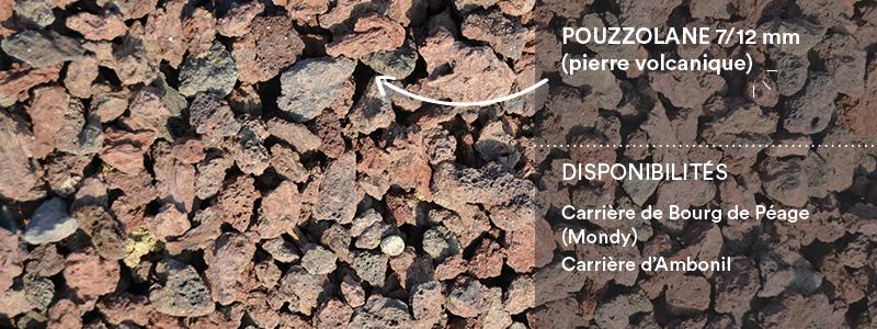 Matériaux Cheval Granulats pouzzolane 7/12 (pierre volcanique) pour travaux paysagers