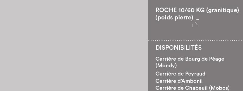 Matériaux Cheval Granulats roche 10/60 kg pour travaux paysagers