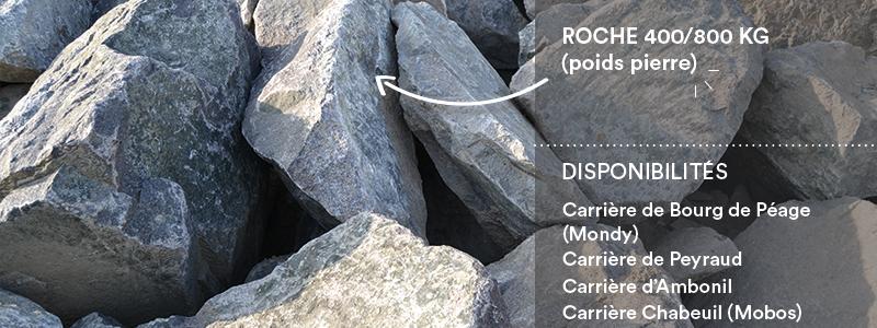 Matériaux Cheval Granulats roche 400/800 kg pour travaux paysagers