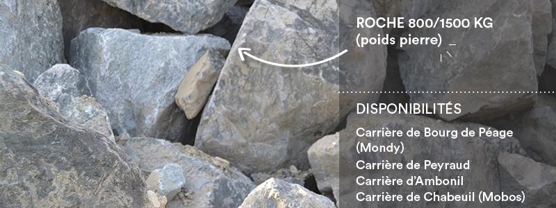 Matériaux Cheval Granulats roche 800/1500 kg pour travaux paysagers