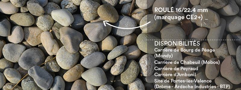 Matériaux Cheval Granulats roulé 16/22.4 mm (CE2+) pour béton/mortier