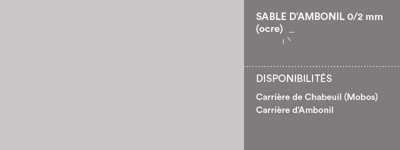 Matériaux Cheval Granulats sable d'Ambonil 0/2 mm (ocre) pour béton/mortier