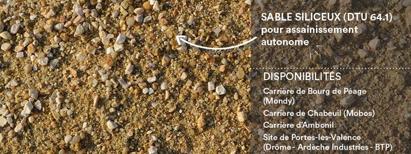 Matériaux Cheval Granulats sable d'Ambonil 0/4 mm (ocre) pour béton/mortier