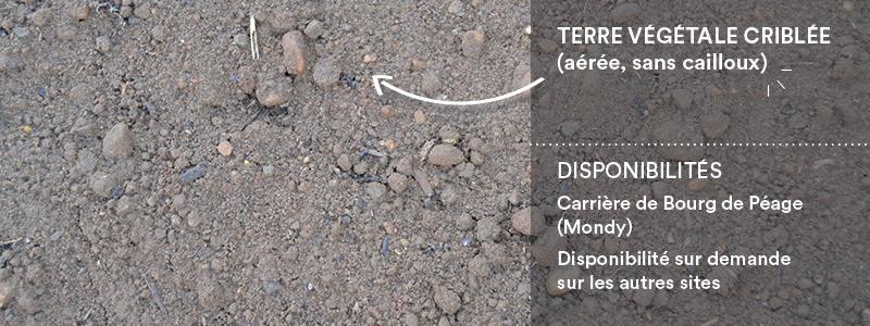 Matériaux Cheval Granulats terre végétale criblée pour travaux paysagers