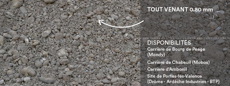 Matériaux Cheval Granulats tout venant 0/80 mm pour voiries, chemins et cours